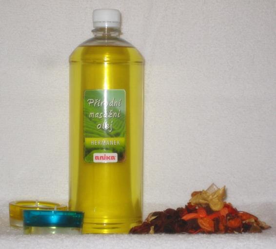 Přírodní masážní olej - heřmánek ( 1 000 ml )