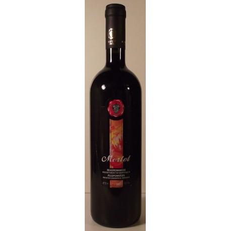 Červené suché víno Merlot