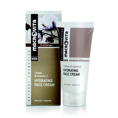 Hydratační krém pro muže na obličej - Bavlna, vitamín C & BIO chmel - pro všechn