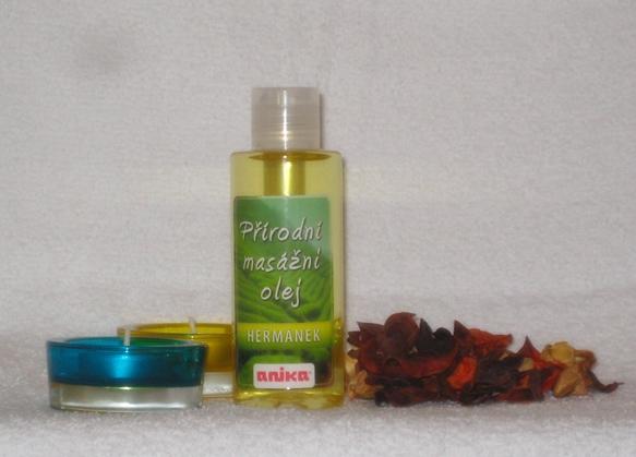 Přírodní masážní olej - heřmánek ( 150 ml )