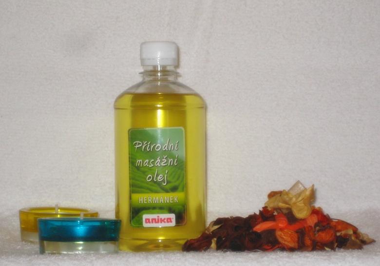 Přírodní masážní olej - heřmánek ( 500 ml )