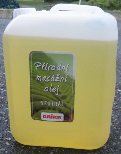 Přírodní masážní olej - heřmánek ( 5000 ml )
